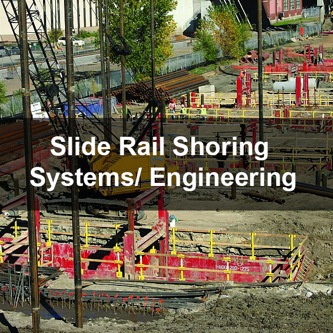 slide rail shoring equipment